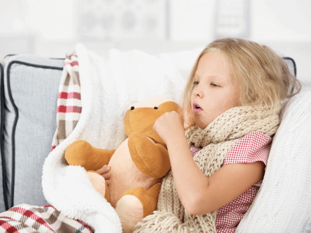 子どもの咳が止まらないで長引く!咳止めの方法とは?
