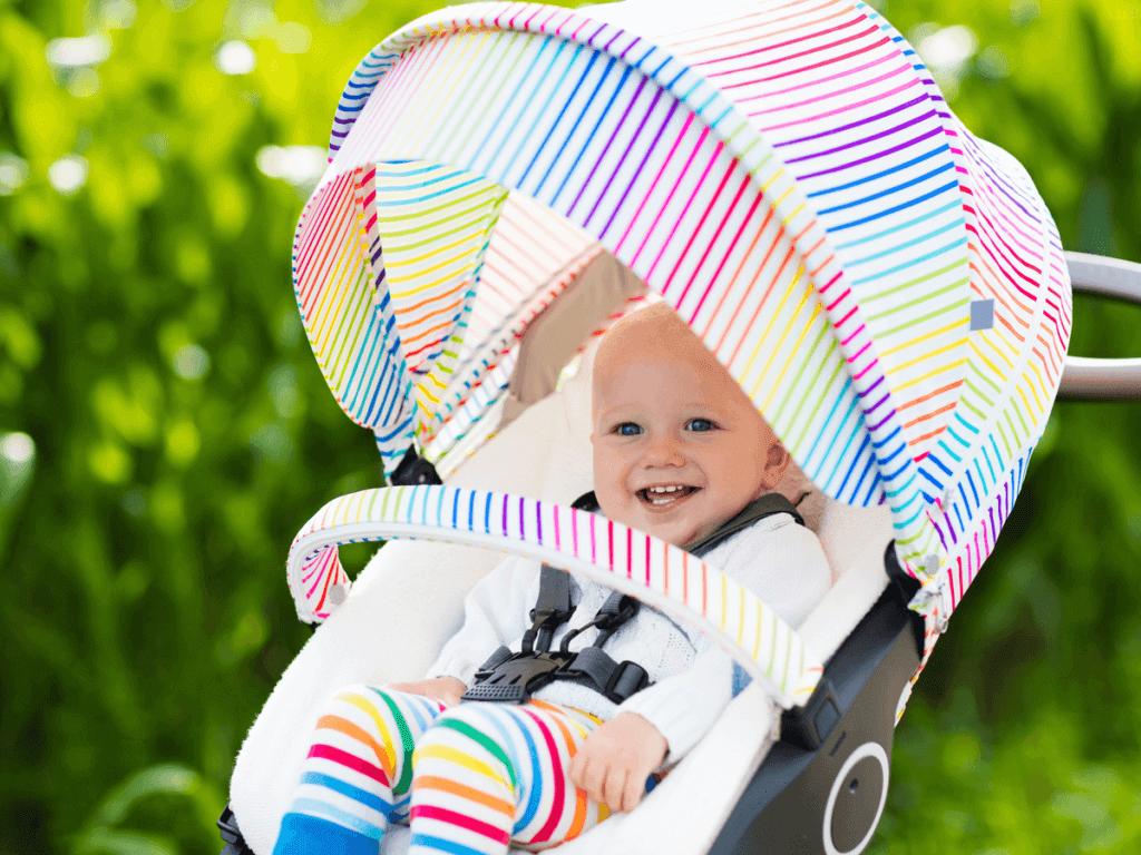 赤ちゃんの暑さ対策!抱っこ紐やベビーカーでの注意点!