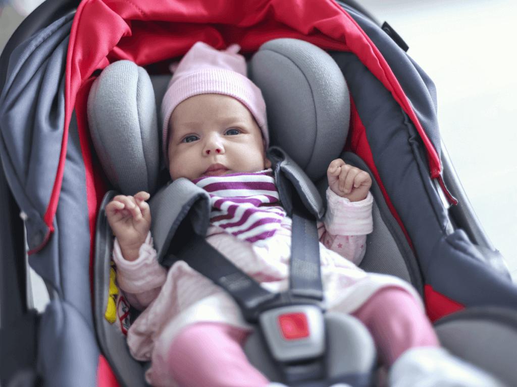 赤ちゃんチャイルドシートの暑さ対策!カンガルーで快適!