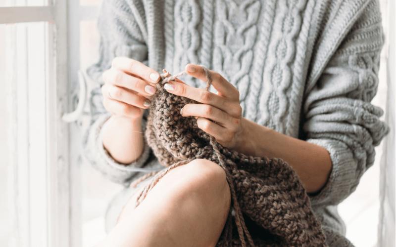 手編み マフラー